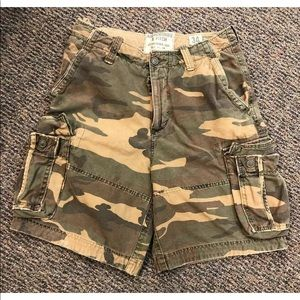 Abercrombie Fitch Military Camo Cargo Shorts 34